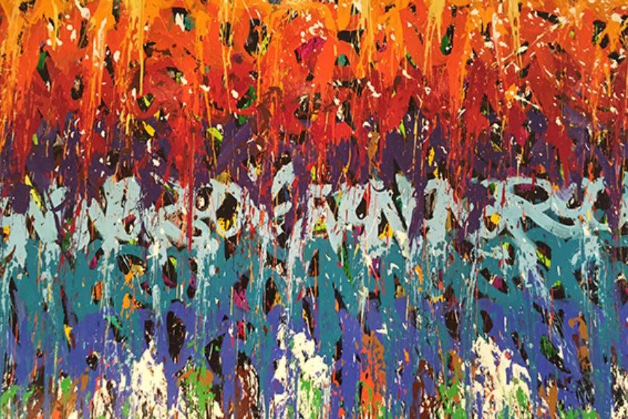 JonOne, PERFORMANCE «LIVE» AU 55 AMSTERDAM
